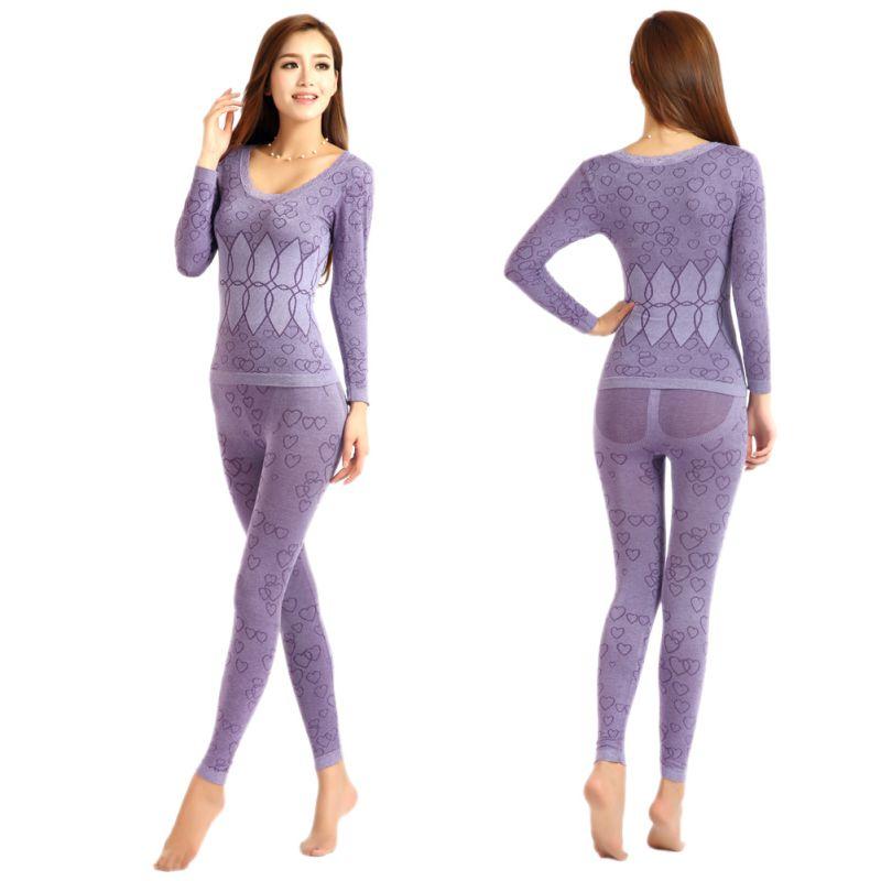 women body shaped slim ladies intimate sets long johns. Black Bedroom Furniture Sets. Home Design Ideas