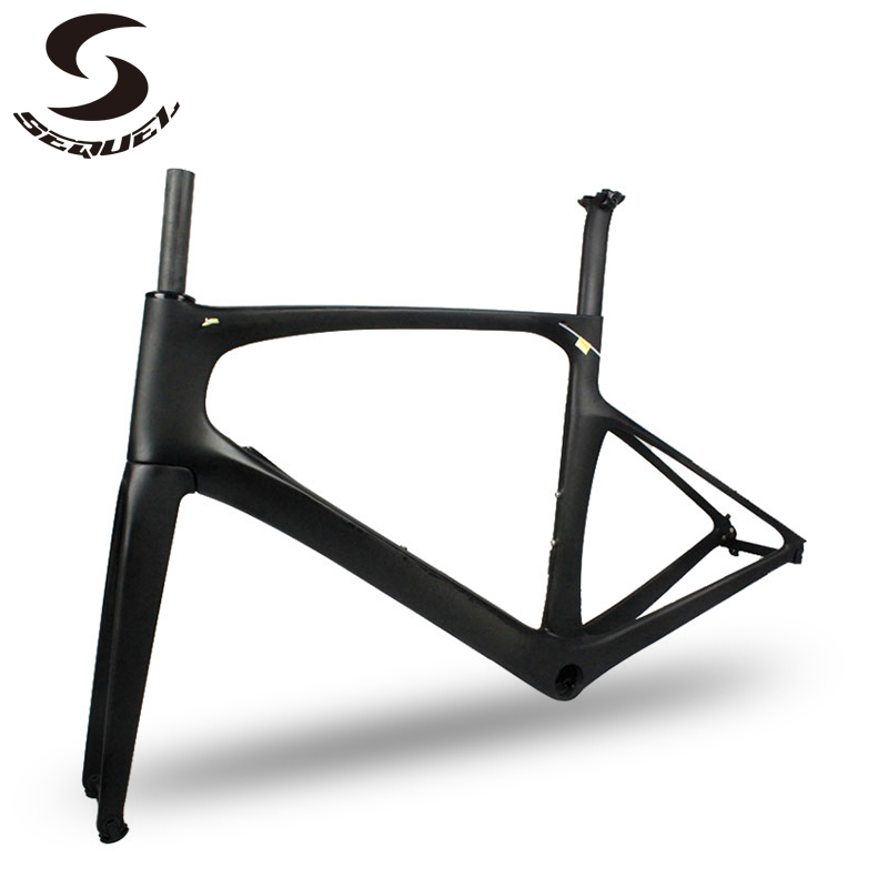 Good Quality Foil carbon <font><b>bike</b></font> frame internal Cabling Road Bicycle Frame <font><b>OEM</b></font> Painting colors are available carbon frames image