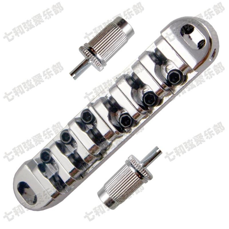 1 Set Chrome Roller saddle Tune-O-Matic Guitar Bridge For Electric Guitar new 1 set guitar bridge