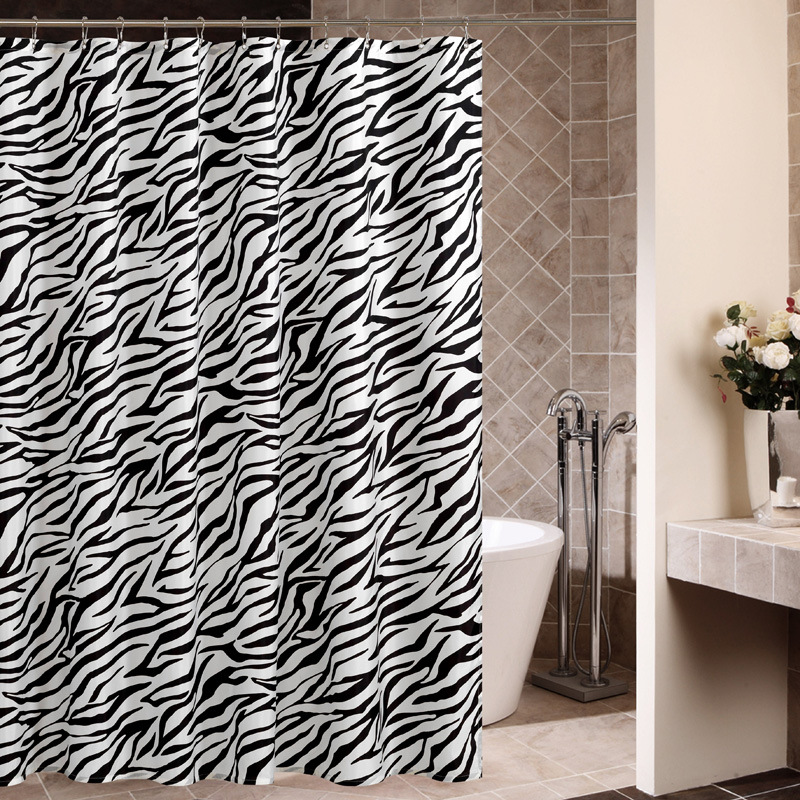 Mtuove shower curtain zebra Dacron waterproof, mould proof and thickening curtain manufacturers direct wholesale spot wholesale