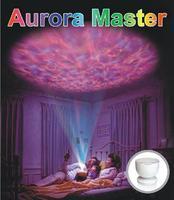 جو رومانسي ضوء المحيط أورورا ماستر 8 وضع النوم نزوة الملونة مصباح الإسقاط و الصوت الرقمي اللعب هدية المنزل