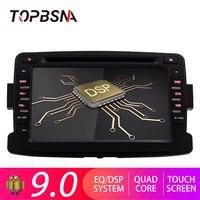 TOPBSNA Android 9.0 Car Multimedia Player For Dacia/Sandero/Duster/Captur/Lada/Xray 2/Logan 2 1 Din Car Radio WIFI auto headunit