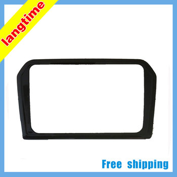 Gratis verzending-Auto monteren DVD frame, DVD panel, Dash Kit, Fascia, Radio Frame, Audio frame voor 2013 Volkswagen Jetta, 2DIN