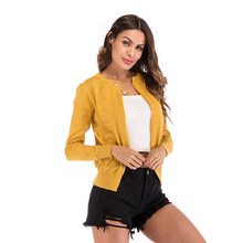 Kenancy Autumn Women Sweater Basic Style Button Down O-Neck Long Sleeve Soft Knitted Cardigan Sweater Female Casual Outwear(China)