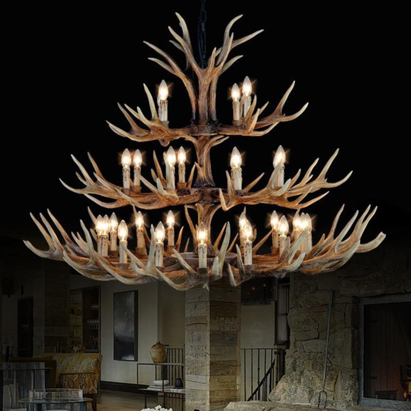 Customized Antler Lamp In Pendant Chandelier 6/8/10/12/15/18 Arms Optional E14 Antler Chandelier Chandelier Natural Resin antler marcus page 8