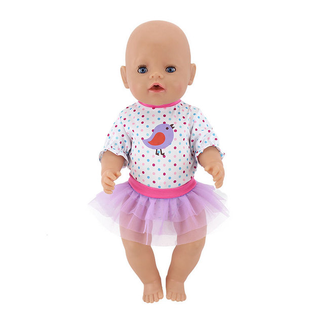 doll outfit set for 18 inch baby dolls clothes for 18″ 43cm bebe new born doll accessory baby girl gifts