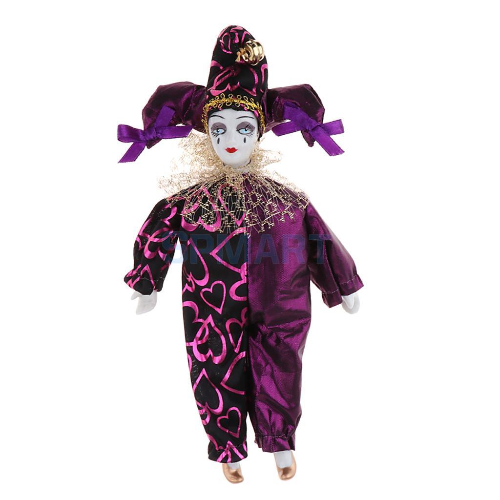 9 Inch Porcelain Dolls Italian Eros Triangel Dolls Model Sad Clown For Dollhouse Decoration 1