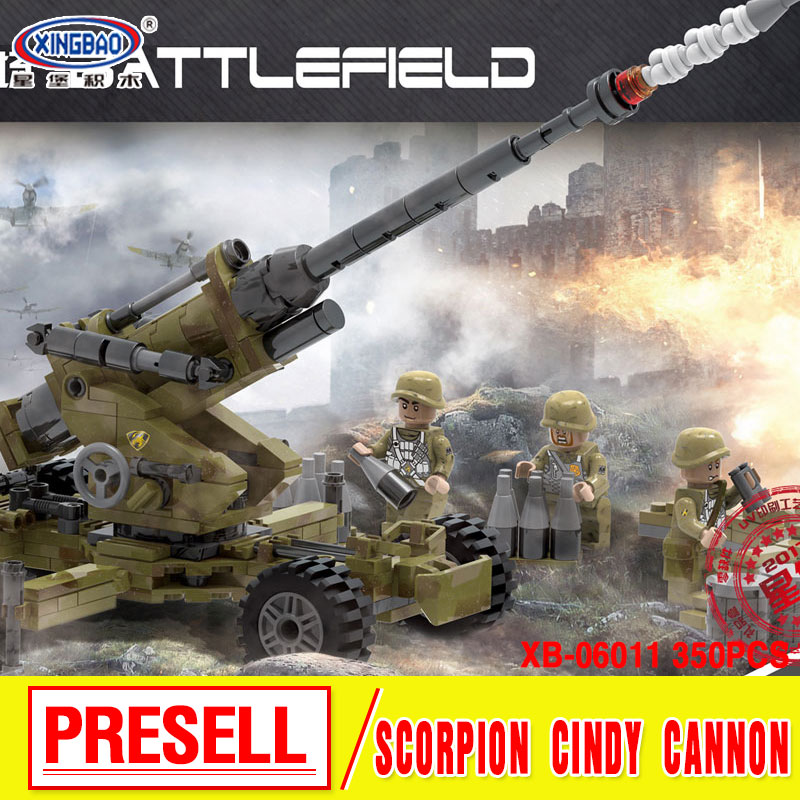 XINGBAO 06011 Genuine 350Pcs Military Series The Scorpion Cindy Cannon Set Building Blocks Bricks Educational boys girls gift 8 in 1 military ship building blocks toys for boys
