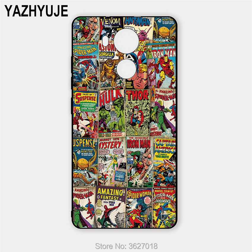 YAZHYUJE Soft TPU cell phone case for huawei mate 8 Marvel