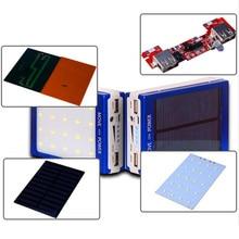 Универсальный 5 В PCBA Solar Power Bank Дело СДЕЛАЙ САМ Box Dual USB с 20 Шт. LED 5×18650 Солнечных Батарей Powerbank DIY KIT Case (без Батареи)