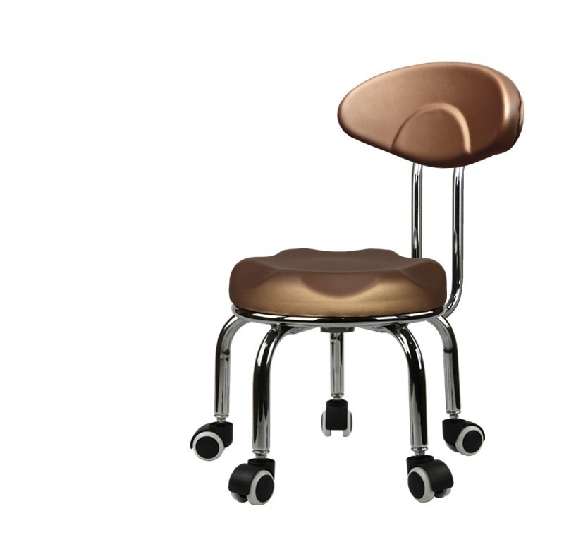 household wheel moving chair scrub Clean the stool the stool garden small chair free shipping black gold color 240337 ergonomic chair quality pu wheel household office chair computer chair 3d thick cushion high breathable mesh