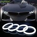 2 ШТ. 60-110 ММ LED Хлопок Angel Eyes Супер Яркий Мягкой LED света Halo Кольца Дневного Света DRL Для Автомобиля Фары Мотоцикла лампы