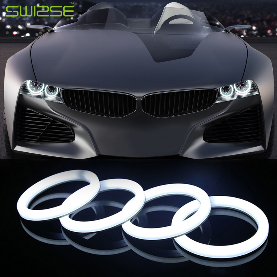 2PCS 60-110MM LED Cotton Angel Eyes Super Bright Soft LED Light Halo Rings Running Light DRL For Car Headlights Motorcycle Lamp electric car motorcycle 15w led headlights modification lens light 12 60v