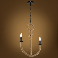 Creative personality hemp cafe bar chandelier corridor water anchor rope pendant lamp Vintage American country