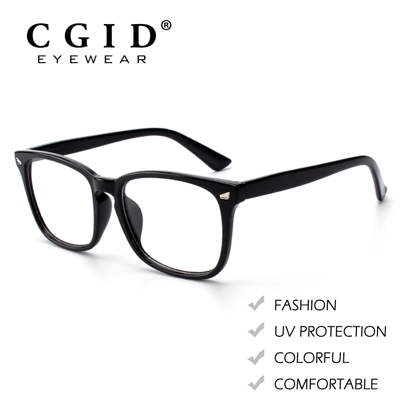 CGID Eyeglasses Rectangle Colorful Frame Metal Decoration with 100%UV  Protection Clear Lens Glasses for Women & Men PG82-in Eyewear Frames from  Men's ...
