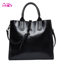HMILY Women Handbag Large Capacity Split Leather Ladies Messenger Bag Four Candy Colour Crossbody Bag Daily Shopping Bag