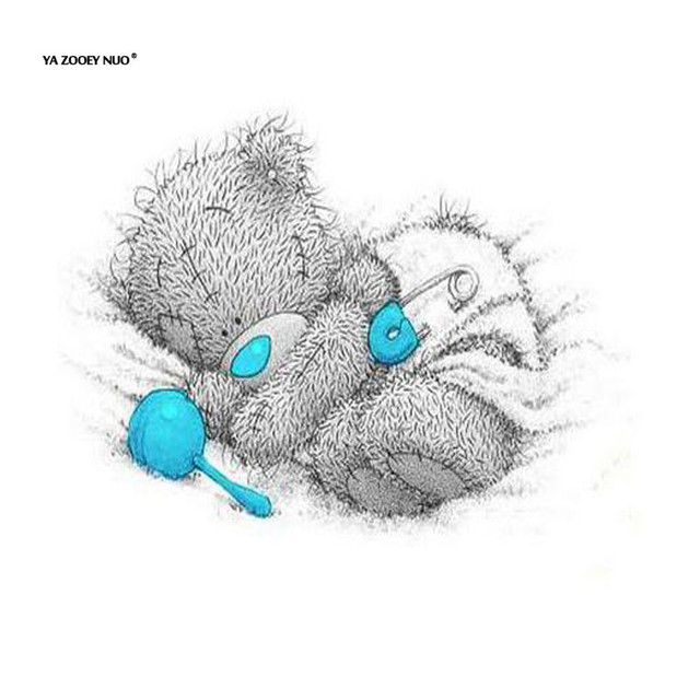 diy 5d diamond painting cross stitch cute sleeping baby tatty teddy