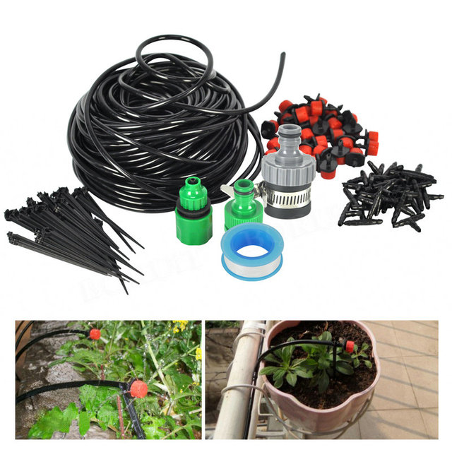 5/10/25M DIY Automatic Micro Drip Irrigation System With Adjustable Dripper Controller Watering Kit For Garden Greenhouse Plant