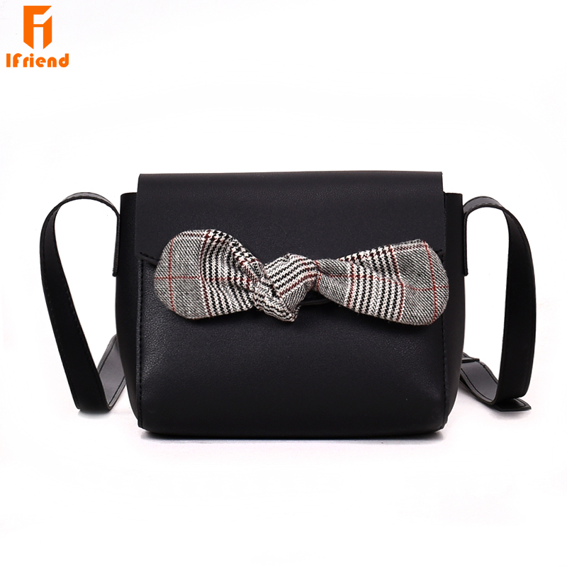 Модные клапаном из искусственной кожи Для женщин Crossbody сумка Для женщин дизайнер лук сумка женская сумочка дамы кошелек Sac femme