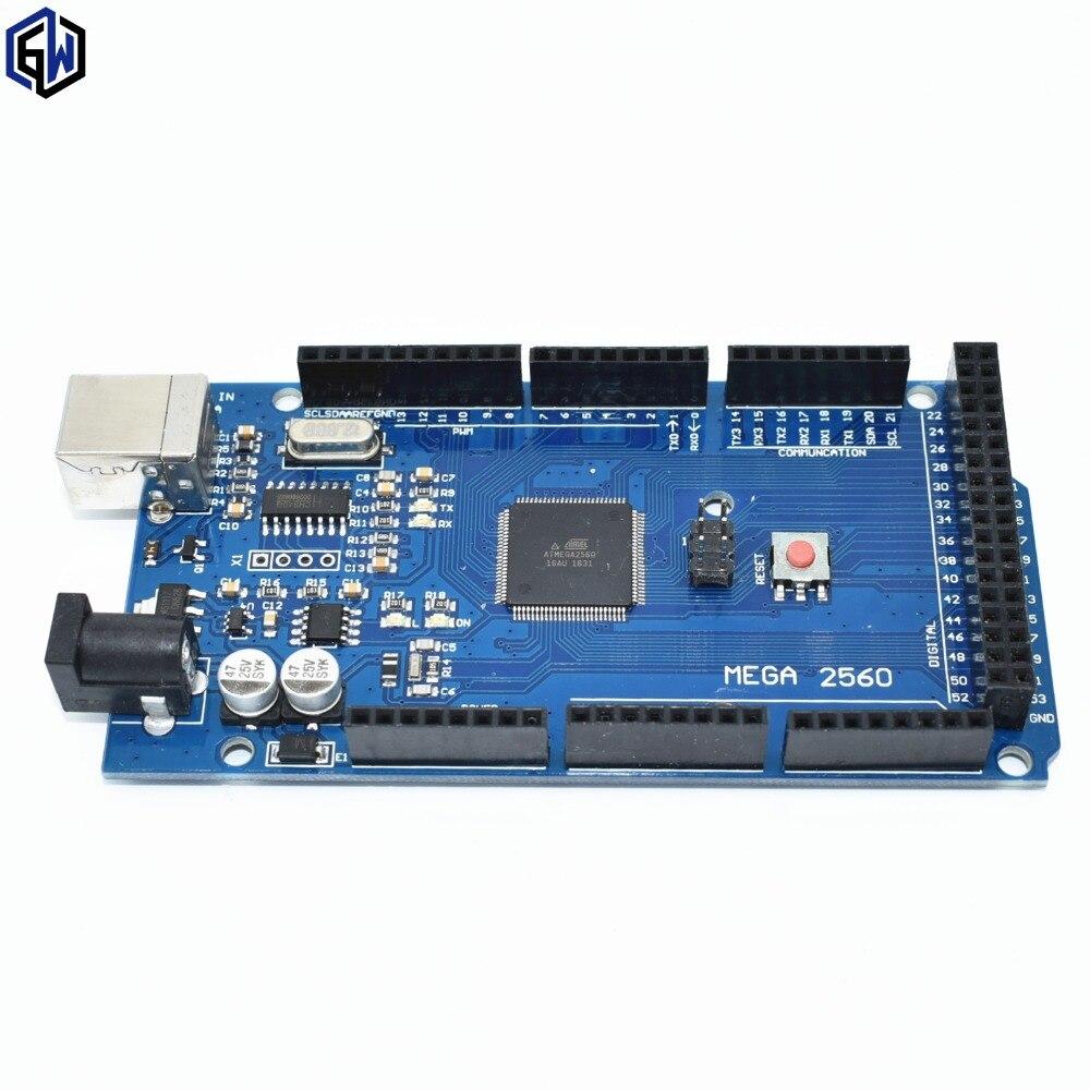 Free Shipping 5set Lot MEGA 2560 R3 ATmega2560 16AU CH340G AVR USB Board USB Cable ATMEGA2560