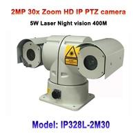 1080p 30x Zoom 360 Degree Rotation Laser Truck Car Vehicle Mounted HD IP PTZ Camera POE Laser IR 400M