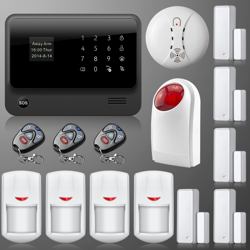 DHL/EMS discount shipping New GSM WIFI alarm sytem Spanish/English multiple function wireless wifi burglar gsm alarm system dhl ems 1pc new sick vs ve18 3e3940