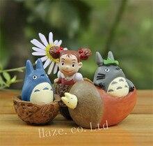 3PCS Studio Ghibli Totoro Resin Classic Figure Figurine Collection