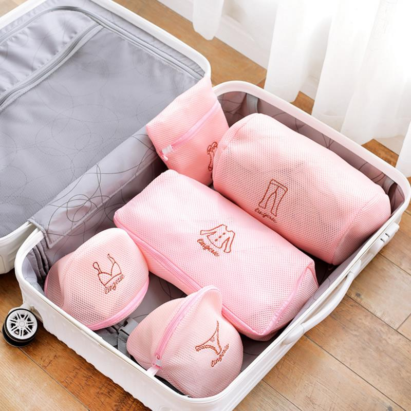 1pc Creative Zippered Mesh Laundry Wash Bags Foldable Lingerie Bra Socks Underwear Washing Machine Clothes Protection Net Gift