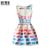 Chicas Vestido de Verano 2017 Sleeveles Rodilla-longitud Vestidos para Niñas 12-16 Años de Algodón Elegante de La Manera Vestido Ninas Vestidos de día de fiesta