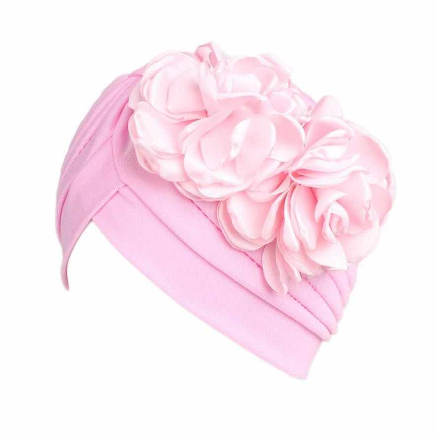 ... Women Large Flower Model Headscarf Solid Chemotherapy Cap Casual Western  Style Ruffle Cancer Chemo Hat Beanie ... 145dd1dabdf5