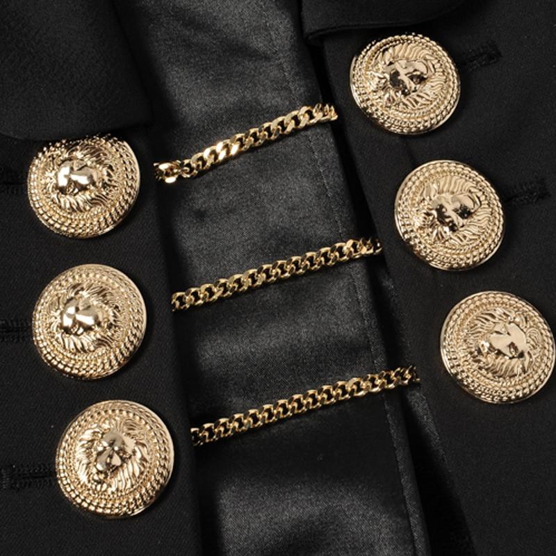 Professional Sale High Quality Newest Fashion 2019 Paris Fashion Designer Blazer Womens Lion Buttons Chain Link Blazer Outer Coat Suits & Sets