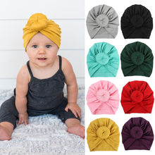 Newborn Toddler Kids Baby Boy Girl Turban Cotton Beanie hat