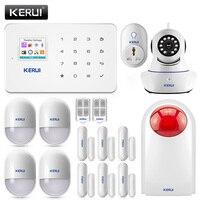 Kerui G18 дома охранной сигнализации Системы GSM охранная сигнализация комплект Детектор движения беспроводной работы с IP Wi-Fi Камера