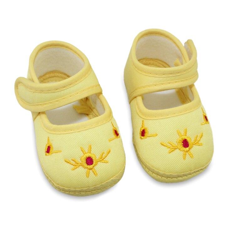 Girl Baby Floral Toddler Shoes Soft Bottom Canvas Crib Infant Flat Shoe Sneaker