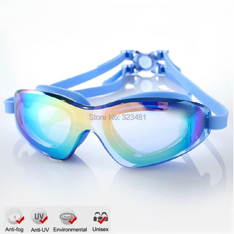 Large Frame Gel Silicone Anit Fog Swimming Goggles Anti-UV Swimming Pool Training Glasses Men Women Swim eyewear