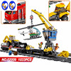 A Toy A Dream Lepin 02009 1033pcs City Engineering Remote Control RC Train Building Block Compatible