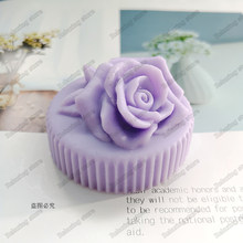 3D Rose Flower Silicone Candle Mold Mini Round Gypsum Plaster Craft Silicone Mould Handmade Candle Soap Molds(China)