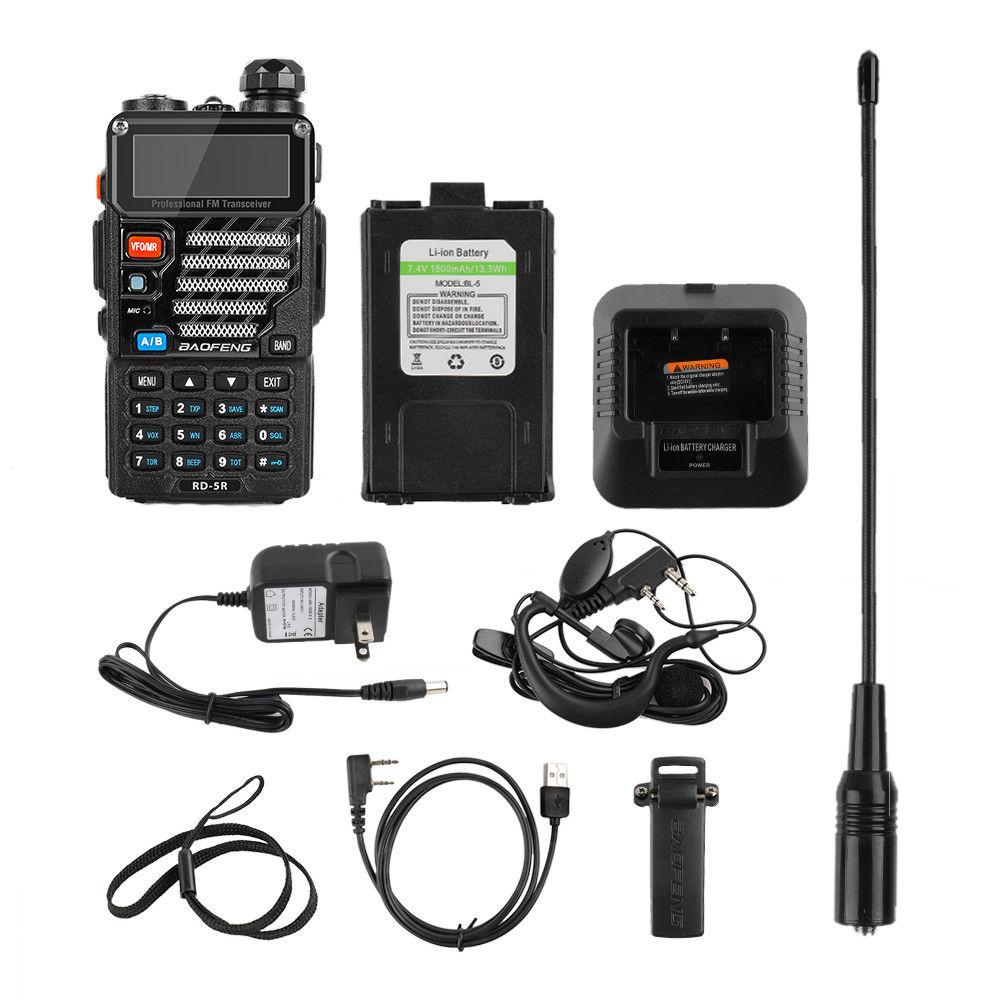 Baofeng RD 5R DMR Tier II VFO Digital Dual Slot Dual Band 136 174 400 470MHz Walkie Talkie Two way Radio Ham Transceiver Speaker in Walkie Talkie from Cellphones Telecommunications