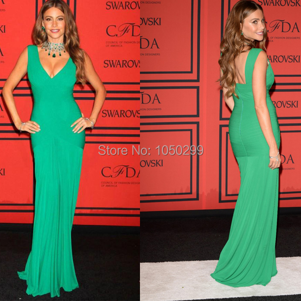 Green Celebrity Dresses