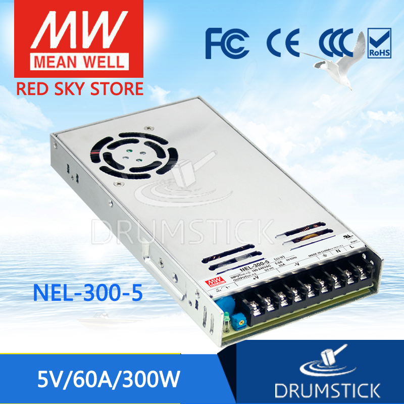100% Original MEAN WELL NEL-300-5 5V 60A meanwell NEL-300 5V 300W Single Output Switching Power Supply аксессуар nel hunter 12 5x8 5 для whites prizm 3 4 5 6 coinmaster катушка