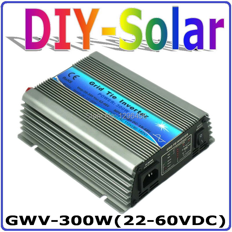 300W Grid Tie Inverter for 30V 60Cells and 36V 72Cells Solar Panel, MPPT function, Pure Sine wave Micro On Grid Tie Inverter mini power on grid tie solar panel inverter with mppt function led output pure sine wave 600w 600watts micro inverter