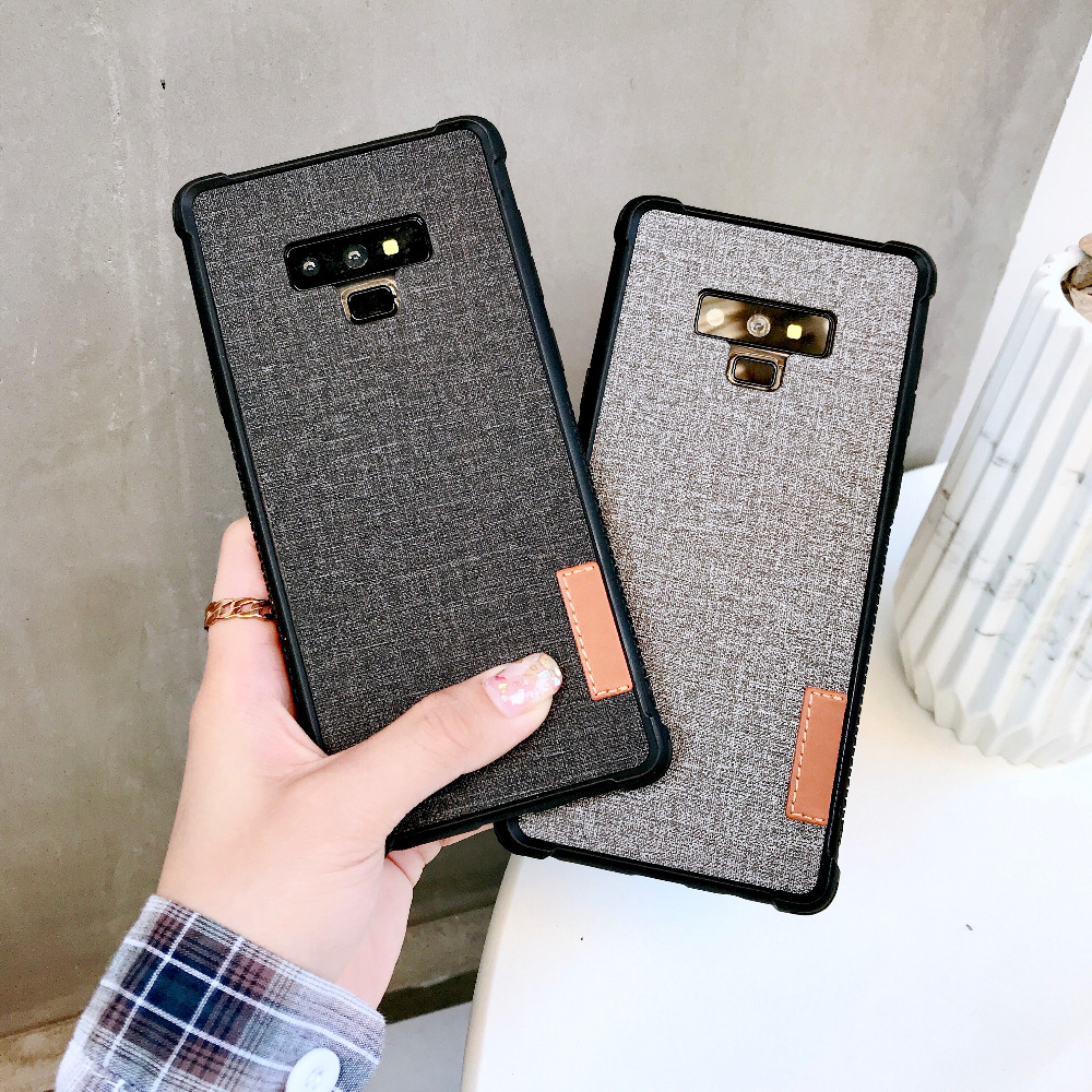 For Samsung Galaxy Note 8 Note 9 Case Note9 Note8 S8plus Cloth Leather Skin Coque For Samsung Galaxy S8 S9 Plus S9Plus Cover