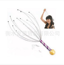 Octopus head massager catch the head manual care the brain fatigue bright eye awake brain functions mechanical what the brain sees