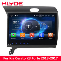 KLYDE 10.1 Octa Core 4G Android 8.0 7.1 6 4GB+32GB Car DVD Multimedia Player For Kia K3 Cerato Forte 2013 2014 2015 2016 2017