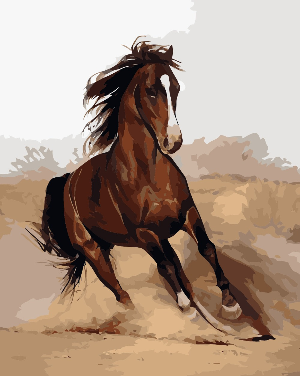 How To Paint Horse Hair With Acrylic