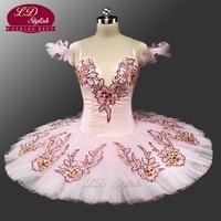 New Pink Classical Ballet Tutu Adult Pancake Tutu Ballet Professional Ballet Tutus Pink Sleeping Beauty Tutu Costumes LD0047