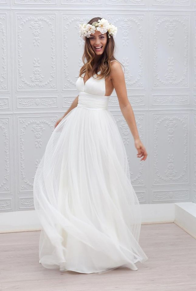 Elegant Simple A Line Spaghetti Straps Cheap Wedding Dresses Under 100 Made In China Beach Bridal Gowns Wedding Dress Cheap Wedding Dresscheap Wedding Aliexpress