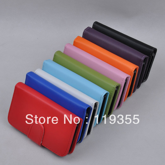 for Apple for iPhone 4 for 4G for 4S for 4GS Wallet Credit Card Flip Leather Pouch Case Cover