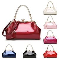 Women Handbag Shoulder Messenger Satchel Crossbody Ladies Tote Bag Patent Leather Evening Clutch Purse