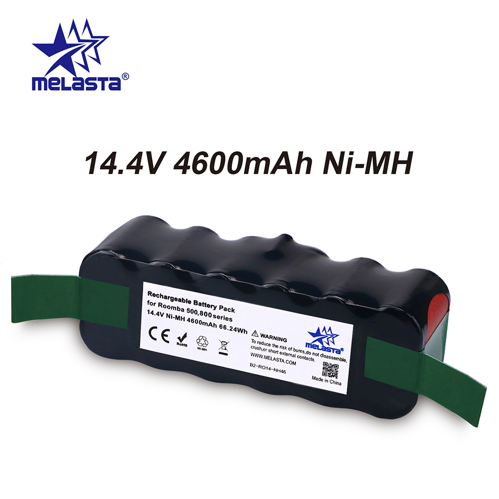 Classical 4.6Ah 14.4V NIMH Bateria Para IRobot Roomba 500 600 700 800 R3 Série 510 530 550 560 610 620 650 770 780 790 870 880